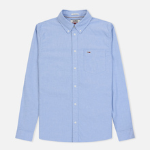 Мужская рубашка Tommy Jeans Classics Oxford Light Blue фото- 0
