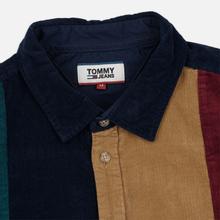 Мужская рубашка Tommy Jeans Colorblock Corduroy Black Iris/Multicolor фото- 1