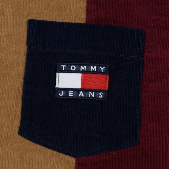 Мужская рубашка Tommy Jeans Colorblock Corduroy Black Iris/Multicolor