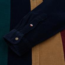 Мужская рубашка Tommy Jeans Colorblock Corduroy Black Iris/Multicolor фото- 3