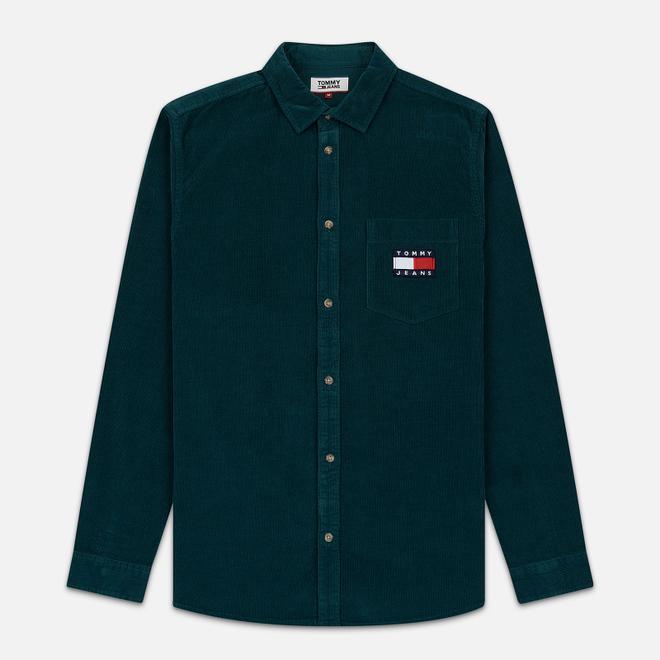 Мужская рубашка Tommy Jeans Corduroy Comfort Fit Atlantic Deep