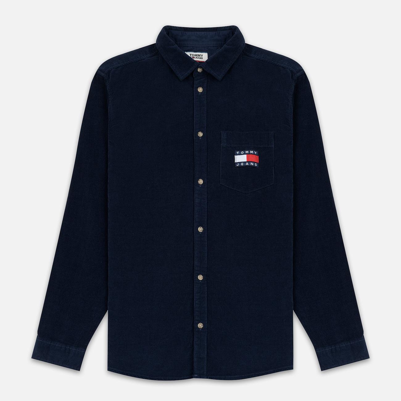 Мужская рубашка Tommy Jeans Corduroy Comfort Fit Black Iris
