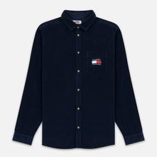 Мужская рубашка Tommy Jeans Corduroy Comfort Fit Black Iris фото- 0