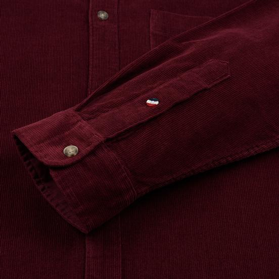 Мужская рубашка Tommy Jeans Corduroy Comfort Fit Burgundy