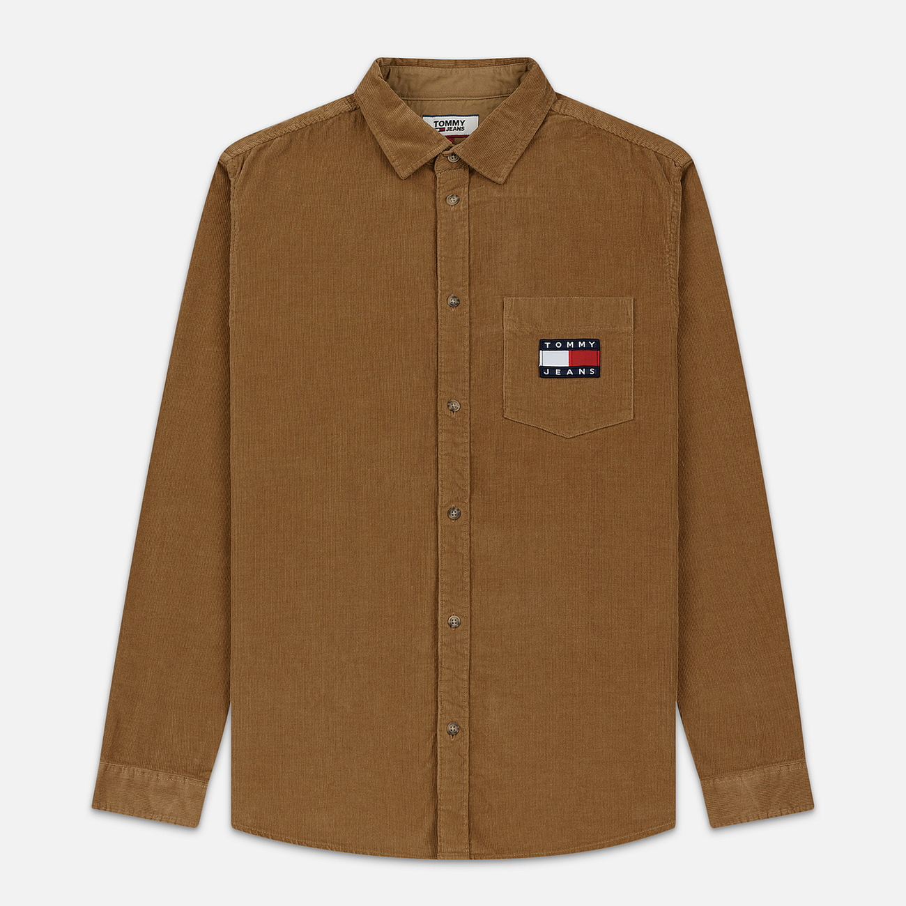 Мужская рубашка Tommy Jeans Corduroy Comfort Fit Tiger's Eye