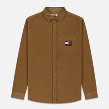 Мужская рубашка Tommy Jeans Corduroy Comfort Fit Tiger's Eye фото- 0