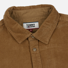 Мужская рубашка Tommy Jeans Corduroy Comfort Fit Tiger's Eye фото- 1