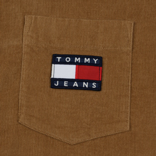 Мужская рубашка Tommy Jeans Corduroy Comfort Fit Tiger's Eye фото- 2