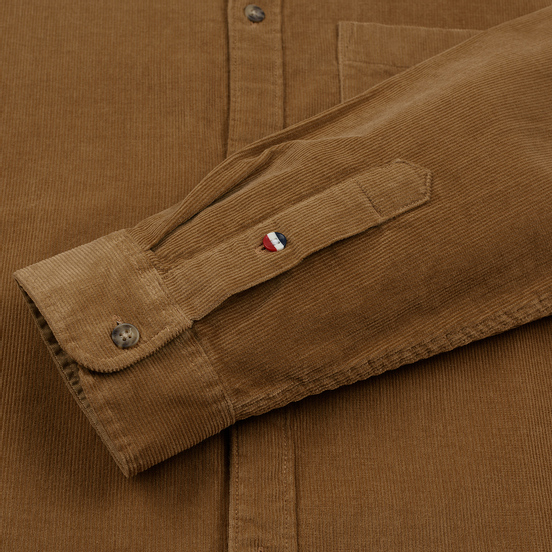 Мужская рубашка Tommy Jeans Corduroy Comfort Fit Tiger's Eye