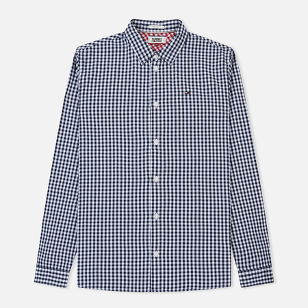 Мужская рубашка Tommy Jeans Essential Gingham Black Iris