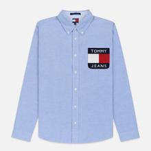 Мужская рубашка Tommy Jeans Flag Denim Blue Chambray фото- 0