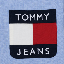 Мужская рубашка Tommy Jeans Flag Denim Blue Chambray фото- 2