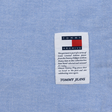 Мужская рубашка Tommy Jeans Flag Denim Blue Chambray фото- 3