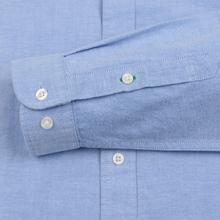 Мужская рубашка Tommy Jeans Flag Denim Blue Chambray фото- 4