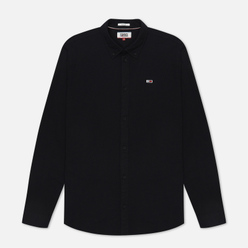 Мужская рубашка Tommy Jeans Stretch Oxford Black