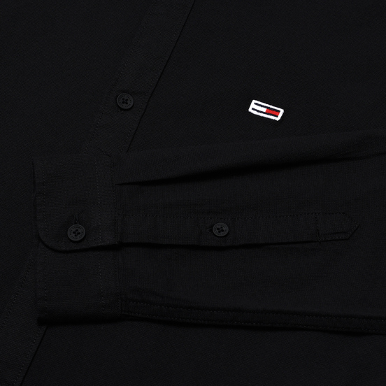 Мужская рубашка Tommy Jeans Stretch Oxford Black