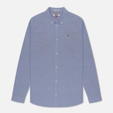 Мужская рубашка Tommy Jeans Stretch Oxford Black Iris фото- 0