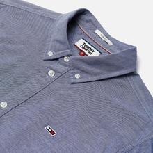 Мужская рубашка Tommy Jeans Stretch Oxford Black Iris фото- 1