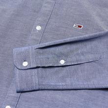 Мужская рубашка Tommy Jeans Stretch Oxford Black Iris фото- 2