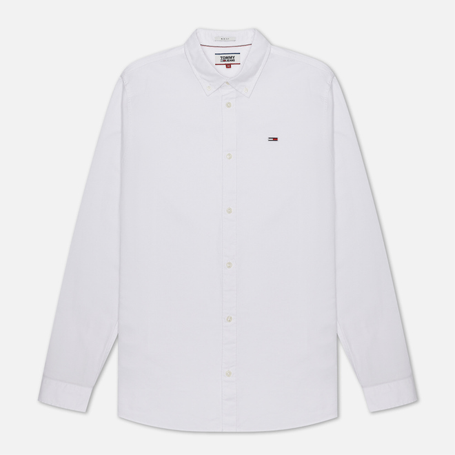 Мужская рубашка Tommy Jeans Stretch Oxford Classic White