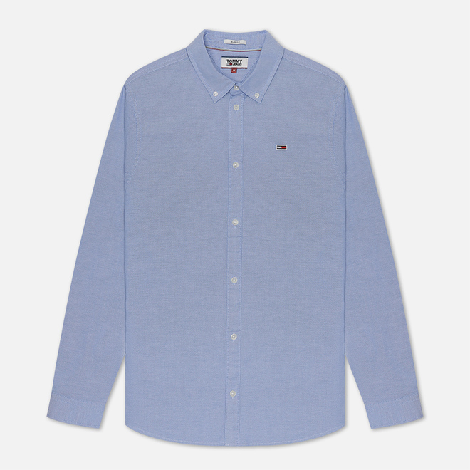 Мужская рубашка Tommy Jeans Stretch Oxford Light Blue