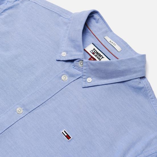 Мужская рубашка Tommy Jeans Stretch Oxford Perfume Blue