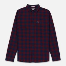 Мужская рубашка Tommy Jeans Sustainable Gingham Burgundy фото- 0