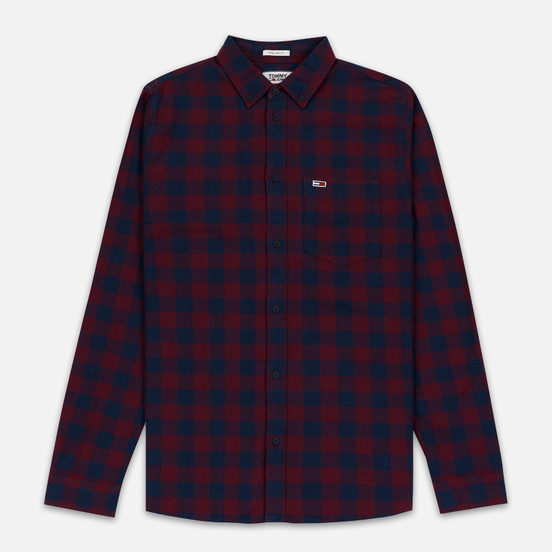 Мужская рубашка Tommy Jeans Sustainable Gingham Burgundy