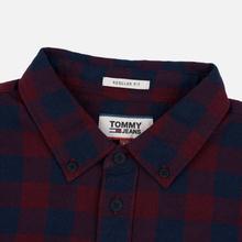 Мужская рубашка Tommy Jeans Sustainable Gingham Burgundy фото- 1