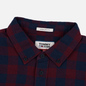Мужская рубашка Tommy Jeans Sustainable Gingham Burgundy фото - 1