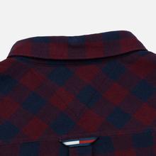 Мужская рубашка Tommy Jeans Sustainable Gingham Burgundy фото- 4