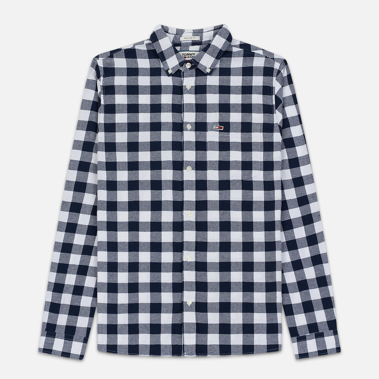 Мужская рубашка Tommy Jeans Sustainable Gingham Classic White