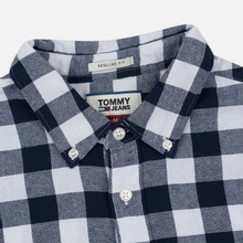 Мужская рубашка Tommy Jeans Sustainable Gingham Classic White фото- 1