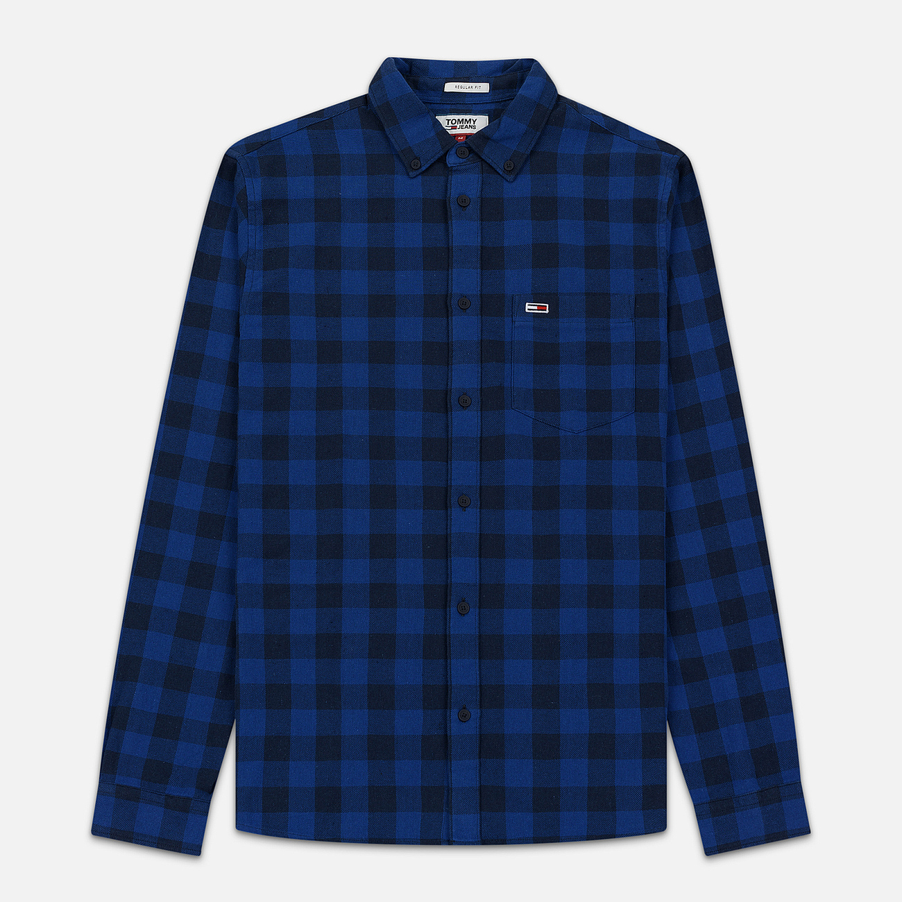 Мужская рубашка Tommy Jeans Sustainable Gingham Dutch Blue