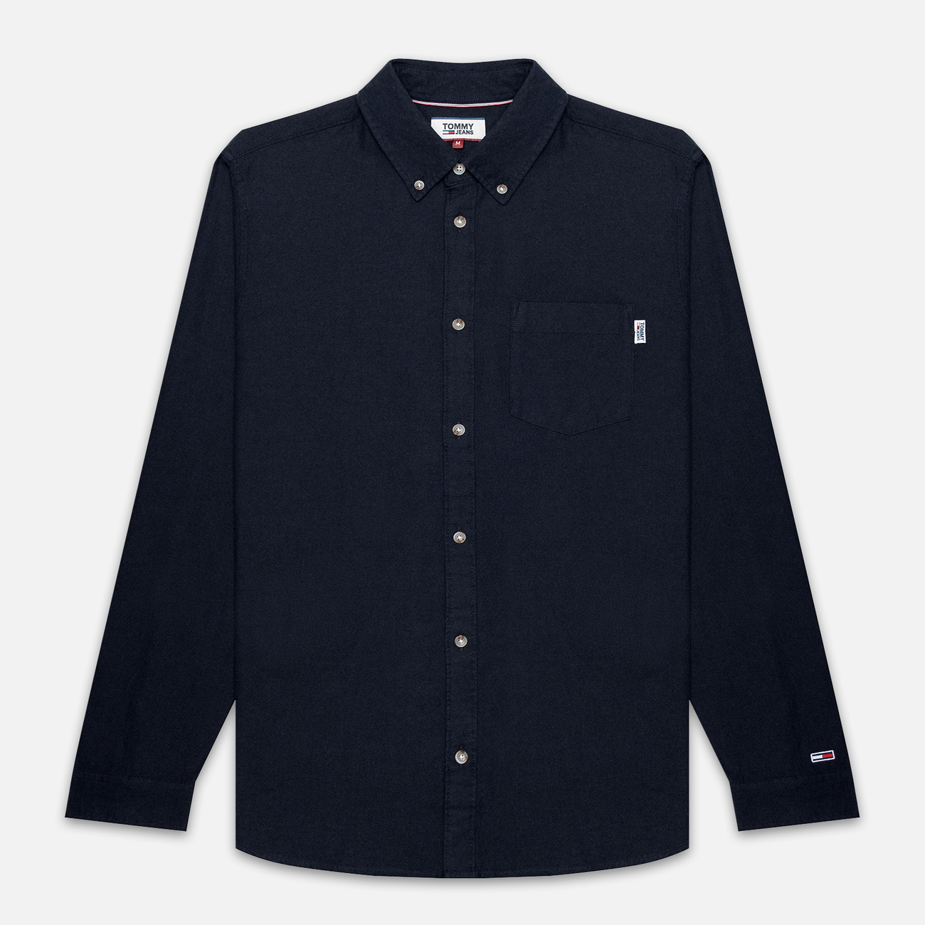 Мужская рубашка Tommy Jeans Two Tone Oxford Black Iris
