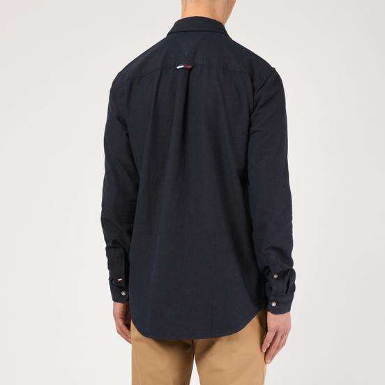 Мужская рубашка Tommy Jeans Two Tone Oxford Black Iris