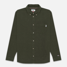 Мужская рубашка Tommy Jeans Two Tone Oxford Cypress фото- 0