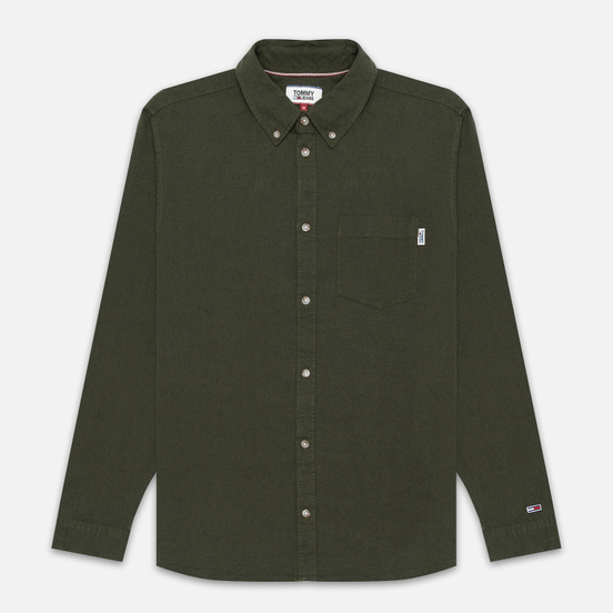 Мужская рубашка Tommy Jeans Two Tone Oxford Cypress