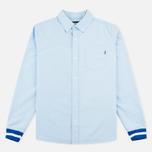 Мужская рубашка Undefeated Cuff Oxford LS Light Blue фото- 0