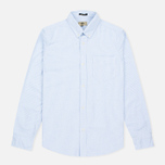 Мужская рубашка Uniformes Generale Gonzo Bengal Oxford Light Blue/Vintage White фото- 0