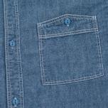 Мужская рубашка Uniformes Generale La Haine Chambray Vintage Indigo фото- 2