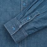 Мужская рубашка Uniformes Generale La Haine Chambray Vintage Indigo фото- 3
