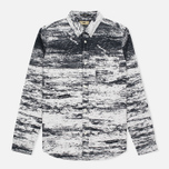 Мужская рубашка Uniformes Generale Stahl Oxford Ecru/Black фото- 0