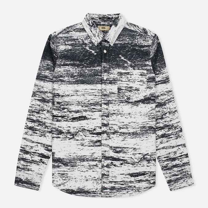 Мужская рубашка Uniformes Generale Stahl Oxford Ecru/Black