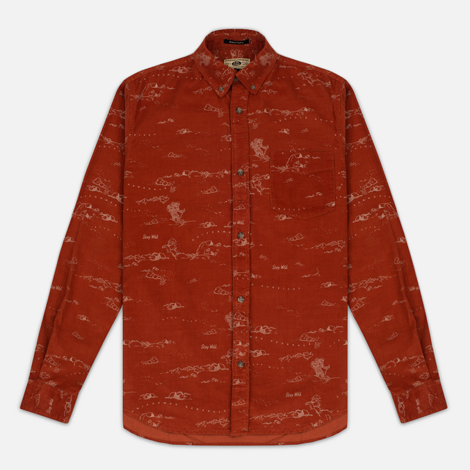 Мужская рубашка Uniformes Generale Stay Wild Baby Cord Burnt Orange