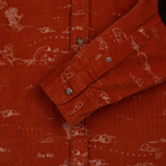 Мужская рубашка Uniformes Generale Stay Wild Baby Cord Burnt Orange фото- 3