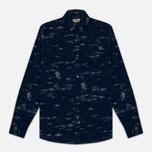 Мужская рубашка Uniformes Generale Stay Wild Baby Cord Dark Indigo фото- 0