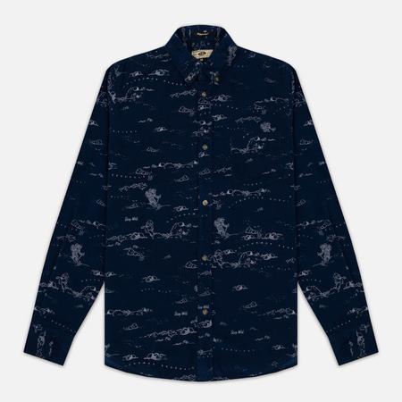 Мужская рубашка Uniformes Generale Stay Wild Baby Cord Dark Indigo