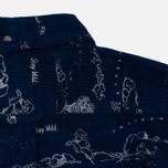 Мужская рубашка Uniformes Generale Stay Wild Baby Cord Dark Indigo фото- 7