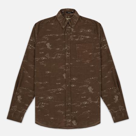 Мужская рубашка Uniformes Generale Stay Wild Baby Cord Tan